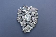 Deluxe Bridal Brooch Wedding Brooch Vintage by WhiteAisleBoutique, $32.00