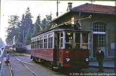 ...tranvia intercomunale Milano-Gallarate motrice STIE-38 - stazione di Legnano - 20 giu 1964 - © Umberto Garbagnati -