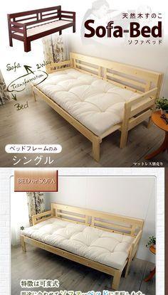 Kagumaru Only The Extendable Sofa Bed 2 Way Natural Wood Slatted Bed Base Single Bed Sofa Bench Wood Sofa Fra En 2020 Muebles De Pales Muebles Plegables Muebles Sofas