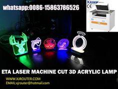 Jinan Xiaojia CNC Machinery Equipment Co.,Ltd: ETA Laser Machine Cut 3D Acrylic Lamps