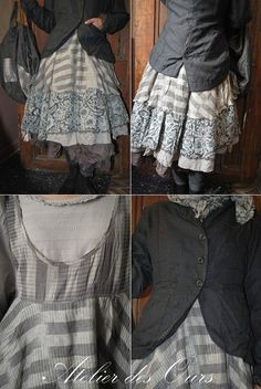 MLLE+SAMANTHA+:+Robe+chasuble,+veste+redingote,+jupon+en+organdi+EWA+IWALLA