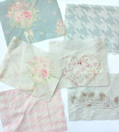Fabric swatches from our first collection...