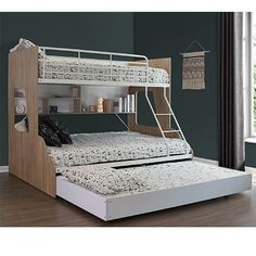 Gisborne King Single Bunk Bed  Wesco Hub King Single Bunk Beds, Trio Bunk Beds, Bunk Beds For Sale, Double Bunk Beds, Bunk Bed With Trundle, Kids Double Bed, Bunk Rooms, Bedrooms, Bed Shelves