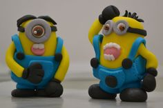Minion Cupcake Toppers Minion Cupcake Toppers, Minion Cupcakes, Birthday Cupcakes, Fondant Minions, Custom Cupcakes, Smurfs, Create, Character, Anniversary Cupcakes
