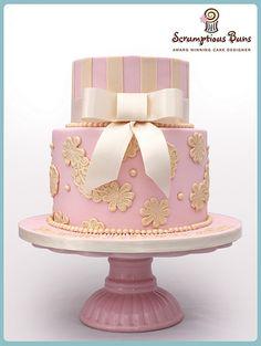 Baby Girl's Christening Cake