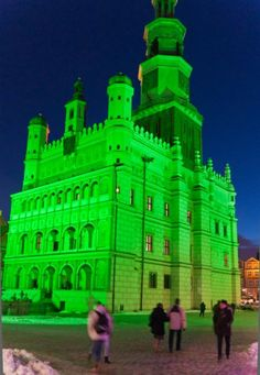 Poznan, the Polish town goes green in unofficial Patrick's Day tribute