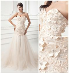 Satin, Tulle Chapel Train Strapless, Sweetheart Champagne Luxury, Sexy Wedding Dresses