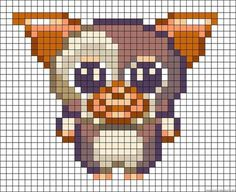 Gremlins and Gizmo Melty Bead Patterns, Pearler Bead Patterns, Perler Patterns, Loom Patterns, Beading Patterns, Perler Beads, Perler Bead Art, Perler Bead Disney, Fuse Beads
