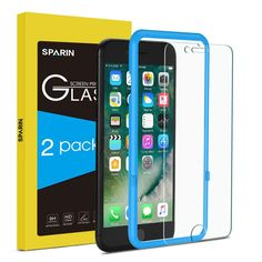 Amazon.com: iPhone 8 7 screen protector, SPARIN 2 Pack Tempered Glass Screen Protector with Easy Align Tool / Double Shielding / Scratch Resistant for Apple iPhone 8 / 7 / 6 / 6S, 4.7 Inch: Cell Phones & Accessories
