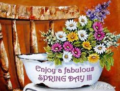 Art by Stella Stella Art, Spring Day, Pictures To Paint, Decoupage, Tapestry, Animation, Canvas, Awesome, Artwork