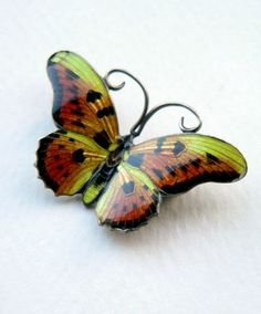 Antique sterling silver and enamel butterfly brooch. Exquisite detail. Lovely. | eBay, sold for £40.00