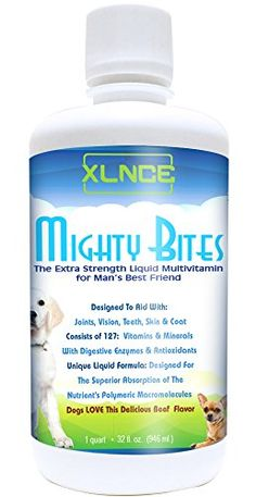 Multivitamins for Dogs by XLNCE - Absorb 98% of the vitamins and minerals - Mighty Bites - Dog Supplement for Joints, Coat and more Now with Glucosomine XLNCE http://www.amazon.com/dp/B014RXT9YS/ref=cm_sw_r_pi_dp_PzCewb0R17AC6