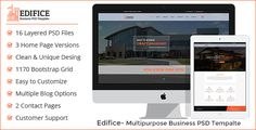 Edifice- Business PSD Template by bootitems Edifice- Business PSD Template ¨C is a simple, clean and modern PSD Template for construction/car repair/corporate/agency/business