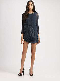 Need this for New York! Parker Silk Bugle Dress