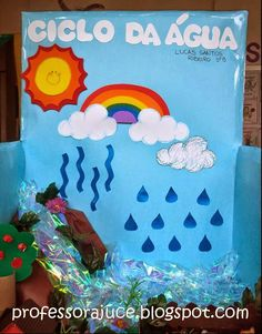 Science Projects, Projects For Kids, Water Cycle Project, Water Cycle Activities, Diy And Crafts, Crafts For Kids, Library Displays, Classroom Decor, Save Energy