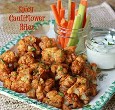 Spicy Cauliflower Bites is a side dish for any weeknight supper. It's great as a side for chicken, burgers, meatloaf & you'll have a - dare I say this - healthy dish to serve.