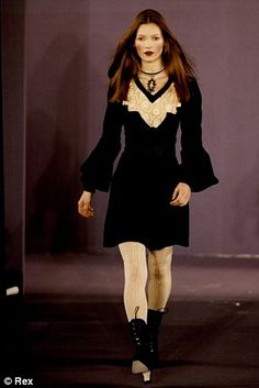 Kate Moss Catwalk queen: Walking for Anna Sui in 1993