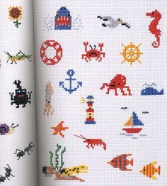 Small crosses stitch patterns.