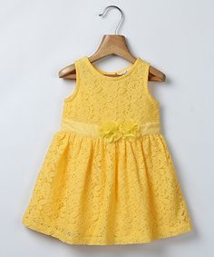 Yellow Lace Dress - Infant & Toddler