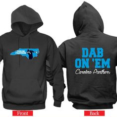 "Dab On 'EM Carolina Panther Hoodie ""2 Prints"" Sports Clothing"