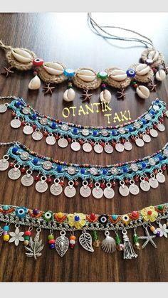 Macrame Jewelry Tutorial, Macrame Bracelet Patterns, Jewelry Patterns, Weird Jewelry, Hippie Jewelry, Crochet Accessories, Handmade Accessories, Jewelry Design Earrings, Beaded Jewelry
