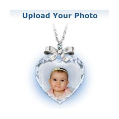 Precious Jewel Diamond Photo Pendant Necklace