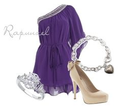 """""""Rapunzel"""" by disneybound ❤ liked on Polyvore featuring Lord & Taylor, Dolce Vita, women's clothing, women's fashion, women, female, woman, misses and juniors"""