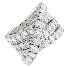 Criss-Cross Diamond Band Ring  USA  21st Century  7.00 Cts total weight of Round Diamonds  F/G COLOR  VS/SI IN CLARITY  Price  $8,200