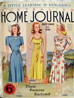 Australian Home Journal October 1948 With Three by BessieAndMaive, $26.00