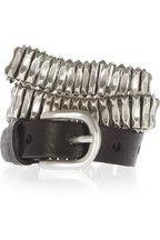 Isabel Marant Spikeman metal and leather belt NET-A-PORTER.COM