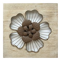 Create an impression that lasts long in. x making a grand statement in home decor with our rustic flower wall decor. This beautiful piece features well-cut solid wood design finished with floral centerpiece in white and distressed brown finish to eli Rustic Wall Art, Unique Wall Art, Modern Wall Decor, Metal Wall Decor, Metal Wall Art, Rustic Decor, Rustic Flowers, Metal Flowers, Metal Roses