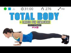 Total Body + Cardio Workout per dimagrire e tonificare - The World Workout At Work, Tummy Workout, Pilates Workout, Tabata, Yoga Fitness, Health Fitness, Yoga Works, Basic Yoga, Yoga Positions