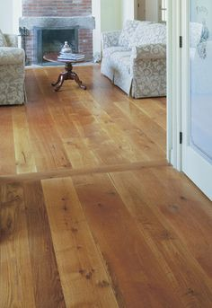 "perhaps we'll consider lighter floors? Carlisle White Oak Floor in Random Widths (6-8""), $11.35 unfinished"