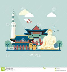 South Korea Travel Concept - Download From Over 43 Million High Quality Stock Photos, Images, Vectors. Sign up for FREE today. Image: 61890230