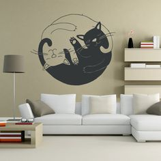 Wall Decor Vinyl Sticker Room Decal   Cat Cats by StickersForLife