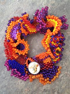 Baublicious: Freeform Peyote Bracelets by Two of my Friends