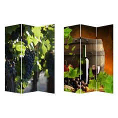 Screen Gems Wine Country Double Sided Room Divider - SG-151