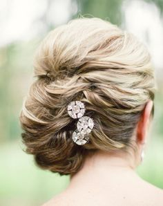 sophisticated wedding hairstyle; Featured Photographer: Lauren Gabrielle Photography