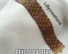 Picasso's Girl PEYOTE Pattern Bracelet Cuff от Lorelaishop на Etsy