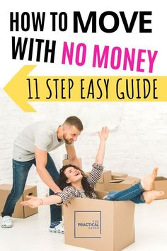 Are you moving? And broke? Yep, I've been there! Learn exactly how to move with no money. This 11 step guide gives best tricks and hacks to move cheap Ways To Save Money, Money Tips, Money Saving Tips, Money Hacks, Moving To Another State, Moving Tips, Budget Moving, Savings Planner, Budgeting Finances