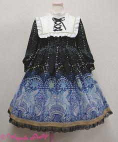 Luminous Sanctuary Bib OP Black AP « Lace Market: Lolita Fashion Sales and Auctions