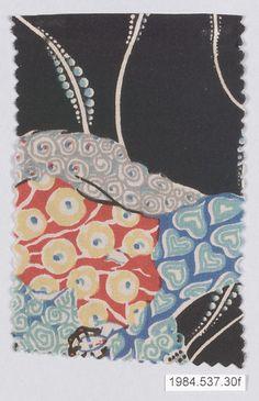 Textile Sample, Gustav Klimt, Manufacturer: Wiener Werkstätte, ca. 1920