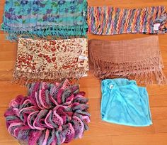 Fashion Scarf Scarves Lot of 6 #fashion