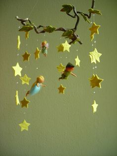 peter pan felt mobile