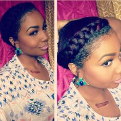 6 Hot Holiday and New Year's Eve Natural Hair Styles from @Andrea Black Girl with Long Braided Hair - #NewYears #2014
