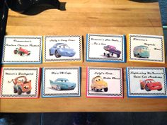 Disney CARS Birthday Party. Food Labels - How To & Printables.