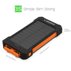 cool X-DRAGON Solar Battery Charger 10000mAh portable Solar Charger  for Mobile iPhone iPad Air mini iPod Samsung  5V USB devices