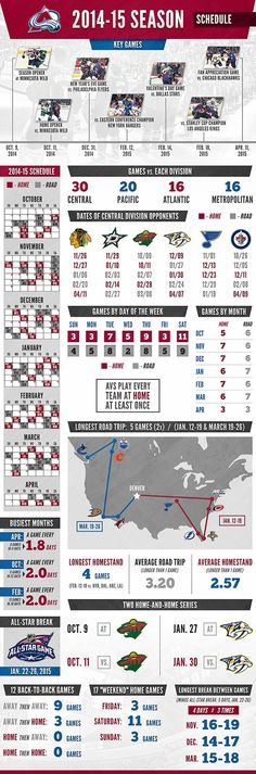 2014-15 schedule Infographic - Colorado Avalanche - Multimedia