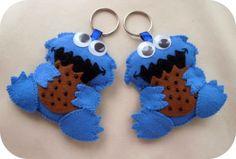 Cute felt Cookie Monster