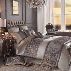housses de couette ensembles de literie de luxe pour un look glamour dans l. Black Bedroom Furniture Sets. Home Design Ideas